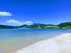 Lac de Joux paddle board spot in Switzerland