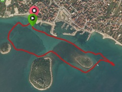 Pakostane bay sitio de stand up paddle / paddle surf en Croacia