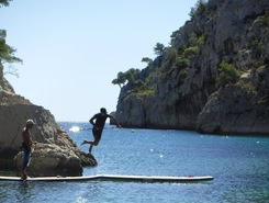 Les calanques paddle board spot in France