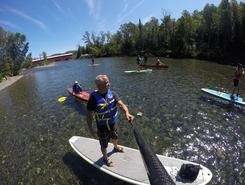 petite cascapedia paddle board spot in Canada