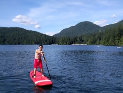 Sasamat Lake paddle board spot in Canada