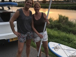 Simone paddle board spot in Netherlands