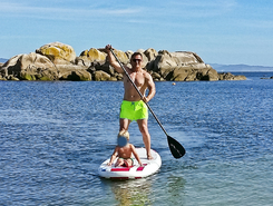 Pedras Negras paddle board spot in Spain