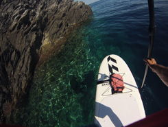 Capo Falcone paddle board spot in Italy