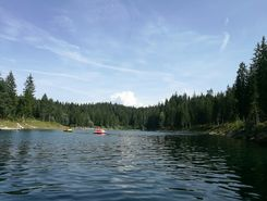 Caumasee paddle board spot in Switzerland