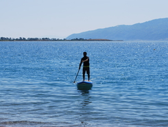 Nafpaktos paddle board spot in Greece