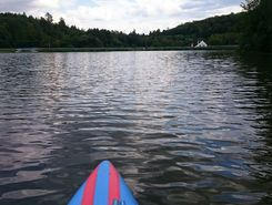 Jevansky rybnik paddle board spot in Czech Republic