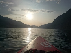 Walensee sitio de stand up paddle / paddle surf en Suiza