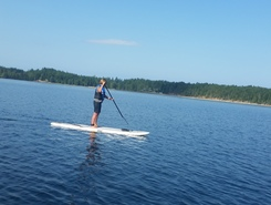 comox lake paddle board spot in Canada