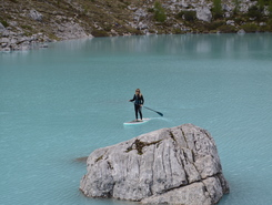 Lago d'Aviasco spot de stand up paddle en Italie