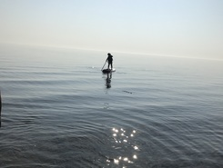 Water's edge paddle board spot in Canada