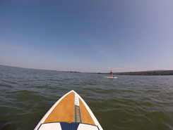 Lac Brome paddle board spot in Canada