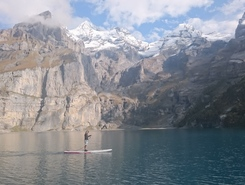 Oeschinensee  paddle board spot in Switzerland