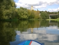 Podolsk, Pahra paddle board spot in Russia