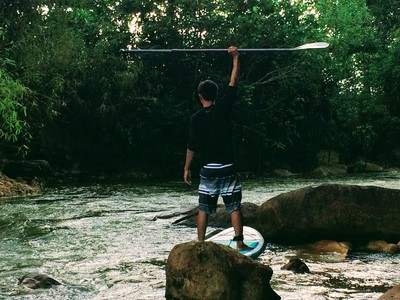 Source of Kbal Chhay Waterfall paddle board spot in Cambodia