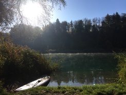 Wohlensee paddle board spot in Switzerland