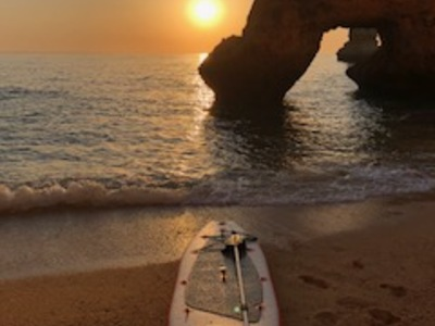 Lagos, Dona Ana Beach paddle board spot in Portugal