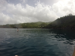 Petite Anse paddle board spot in Guadeloupe