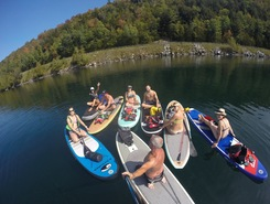 Willoughby lake paddle board spot in United States
