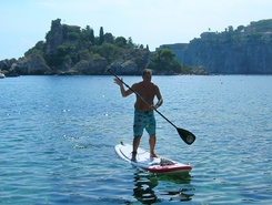 Isolabella paddle board spot in Italy