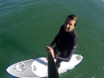 Horizon cap ferret paddle board spot in France