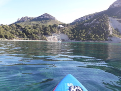 Cassis sitio de stand up paddle / paddle surf en Francia