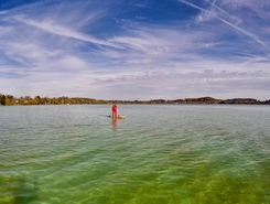 Wörthsee, Bachern paddle board spot in Germany