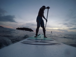 Otress beach paddle board spot in Cambodia