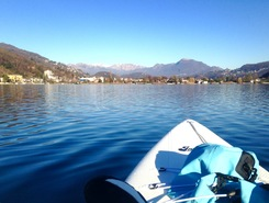 Caslano sitio de stand up paddle / paddle surf en Suiza