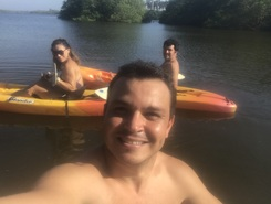 Laguna azul paddle board spot in Mexico