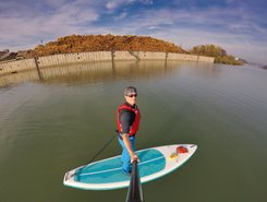 Ennshafen paddle board spot in Austria