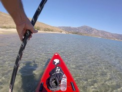 GREECE : EVIA ISLAND : KARISTOS sitio de stand up paddle / paddle surf en Grecia