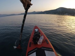 GREECE :  EVIA ISLAND : KIMIS sitio de stand up paddle / paddle surf en Grecia