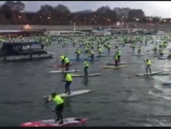 La seine paddle board spot in France