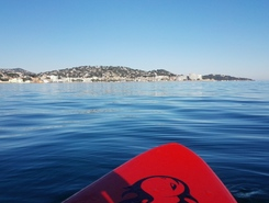 Sainte Maxime paddle board spot in France