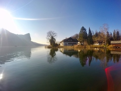 Mondsee paddle board spot in Austria