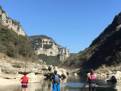 Combe d'Arc paddle board spot in France