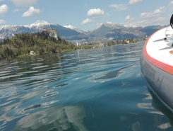 Lake Bled sitio de stand up paddle / paddle surf en Eslovenia